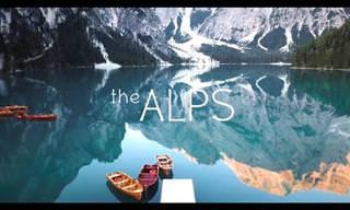 Um belo passeio virtual pela cordilheira dos Alpes