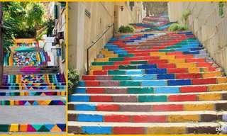 Cores, Formas e Beleza das Escadas...