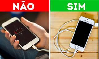 O que você NÃO deveria fazer com seu celular