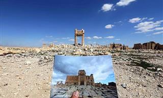 O Sítio Arqueológico Quase Todo Destruído em Palmira, na Síria