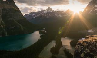 Encantadoras paisagens naturais do Canadá