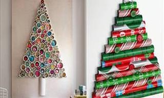 Faça Você Mesmo: 15 Árvores de Natal Diferentes e Criativas