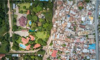 Desigualdade no Mundo Vista de Cima