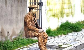 Piada do Dia: A Estátua Viva (Adulta)