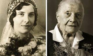 Estes Retratos Mostram Centenários na Juventude e Atualmente