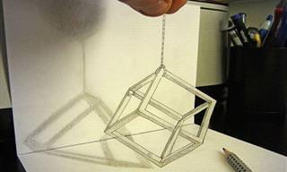 Desenhos 3D Feitos a Lápis
