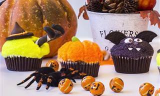 Que Tal Fazer Cupcakes Divertidos Para o Dia das Bruxas?