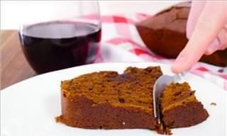 Receita Diferenciada: Bolo de Chocolate Com Vinho Tinto