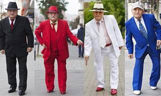 Um Senhor de 86 Anos Usa Ternos Diferentes Todos os Dias